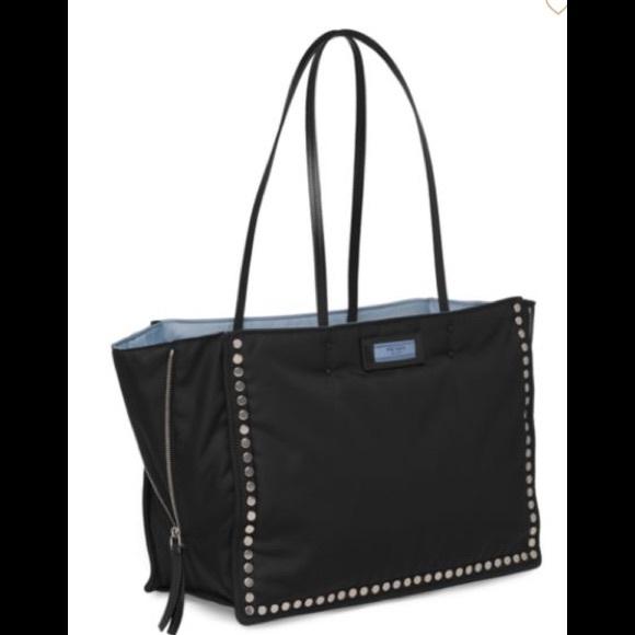 21ab71ad1a40d7 Prada Bags | Studded Tessuto Etiquette Leather Shopper | Poshmark
